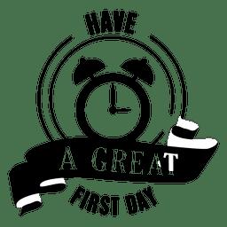 Gran primer emblema de la escuela
