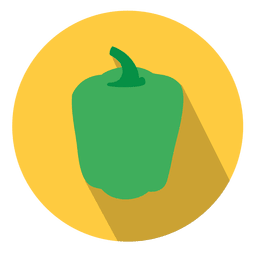 Green bell pepper circle icon
