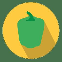 Icono de círculo de pimiento verde