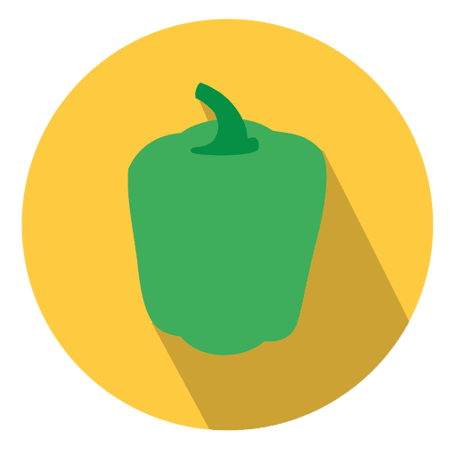 Green bell pepper circle icon Transparent PNG
