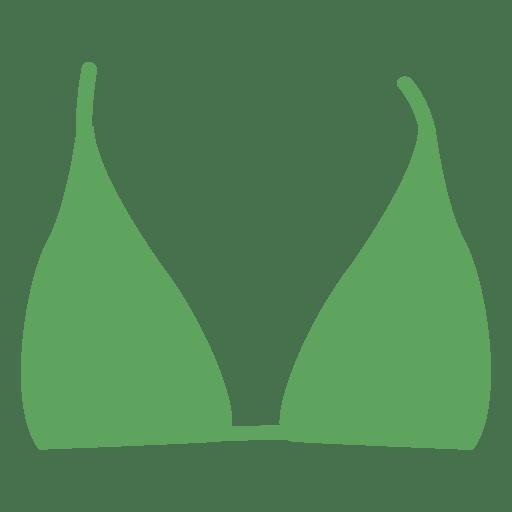 Top de biquíni verde Transparent PNG