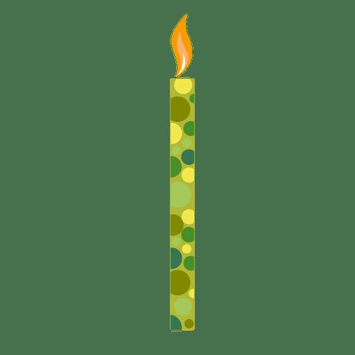 Vela de aniversário de círculos verdes Transparent PNG