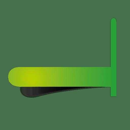 Ponteiro de etiqueta verde infográfico Transparent PNG