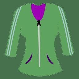 Suéter verde de las señoras