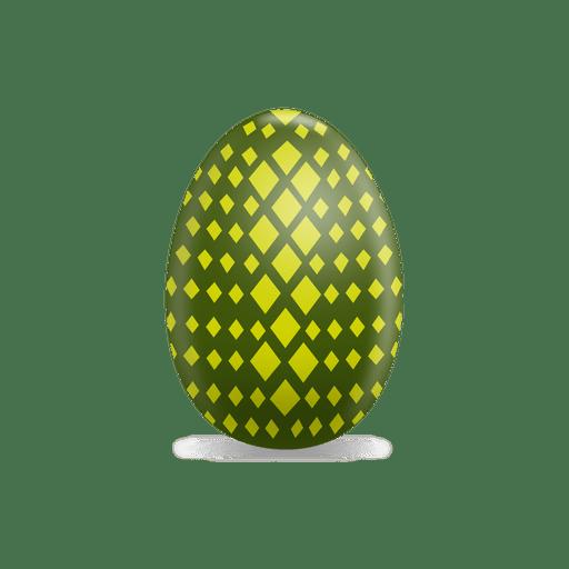 Huevo de pascua de rombos verdes