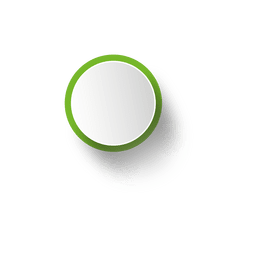 Green rim white ellipse
