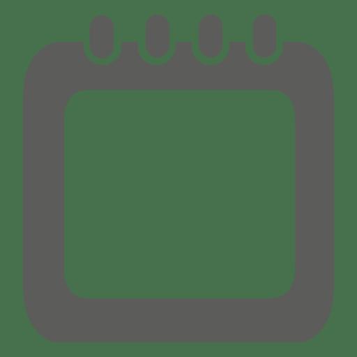 Grey calendar square infographic