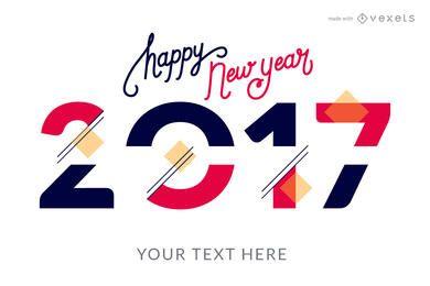 Creador de carteles de estilos de año nuevo 2017