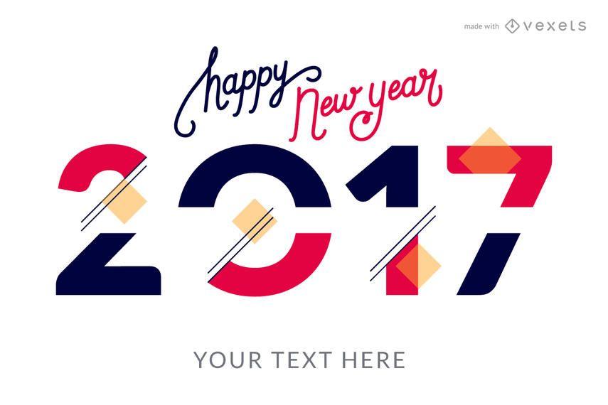 2017 criador de cartaz de estilos de ano novo