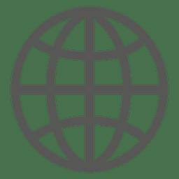 Icono de rejilla de la tierra