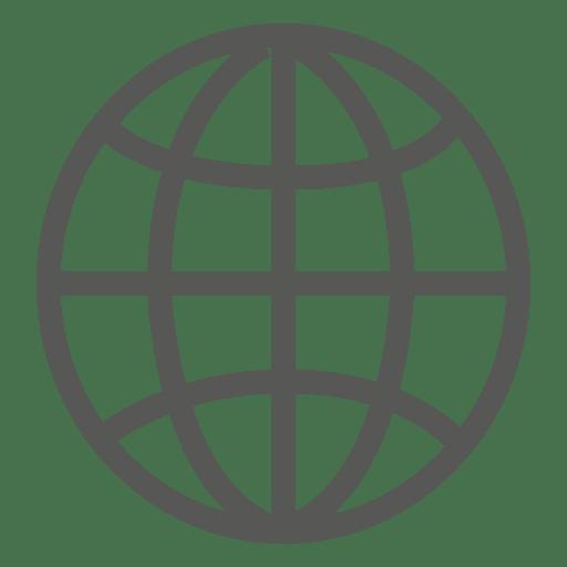 Ícone de grade da terra Transparent PNG