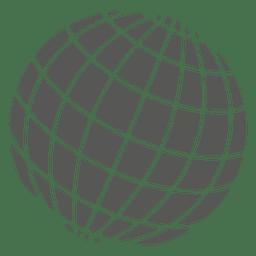Cuadrícula en icono del globo