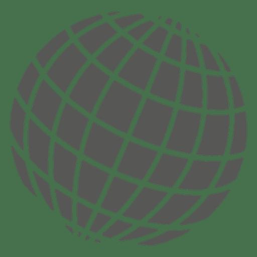 Gitter auf dem Globus-Symbol Transparent PNG