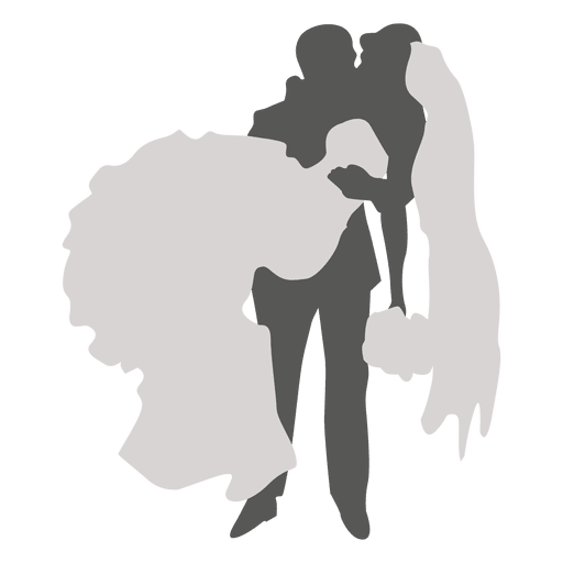 Groom carrying bride silhouette Transparent PNG