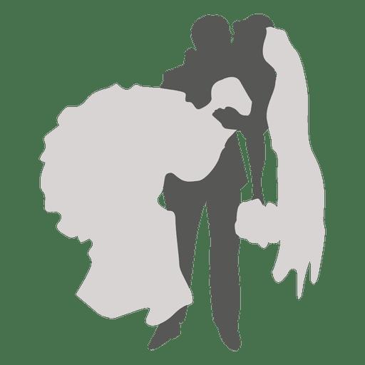 Novio llevando la silueta de la novia Transparent PNG