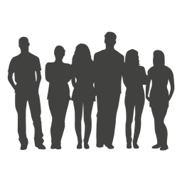 Group people silhouette
