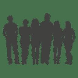 Gruppe Menschen Silhouette