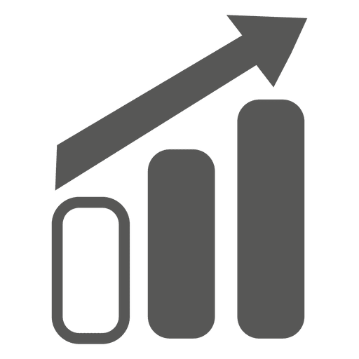 Growing graph arrow direction icon