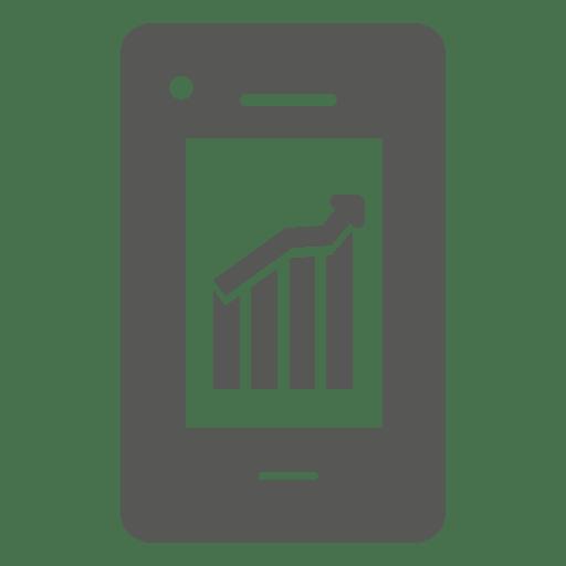 Gráfico de crecimiento en el icono de teléfono inteligente Transparent PNG
