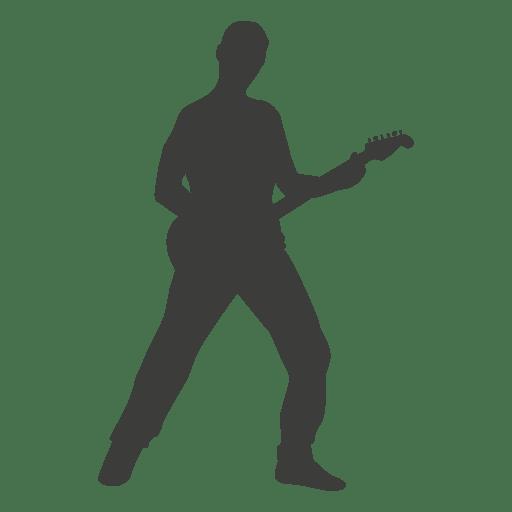 Guitarrista musico silueta 2 Transparent PNG