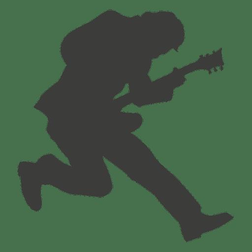 Guitarist musician silhouette 3 - Transparent PNG & SVG vector