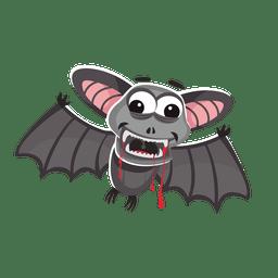 Dibujos animados de murciélago de Halloween