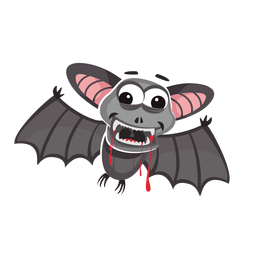 Halloween bat cartoon