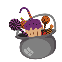 Halloween chocolate pot
