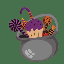Olla de chocolate de Halloween