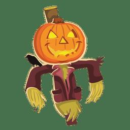Abóbora de palhaço de Halloween