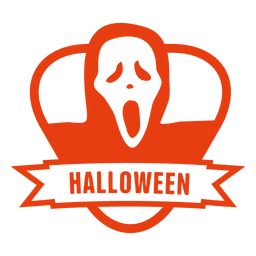 Halloween ghost badge