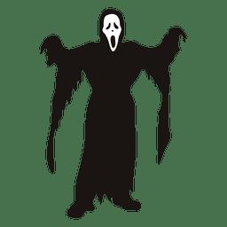 Dibujos animados de disfraz de parca de Halloween