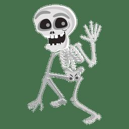 caráter de esqueleto do Dia das Bruxas