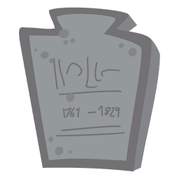 Halloween tombstone cartoon