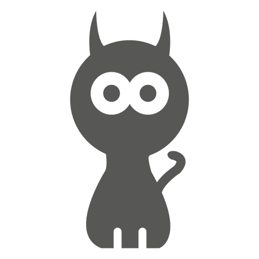 Halloween witch cat icon Transparent PNG
