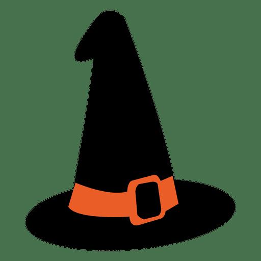 Icono de halloween de sombrero de bruja