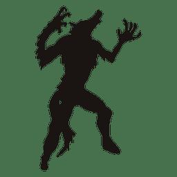 Lobo de Halloween silueta 2