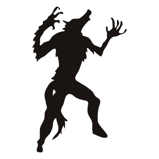 Halloween wolf silhouette 2 Transparent PNG