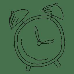Despertador desenhado à mão