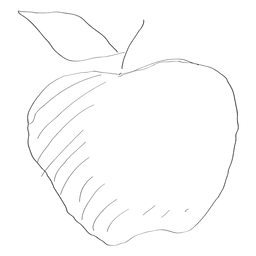 Hand gezeichneter Apfel