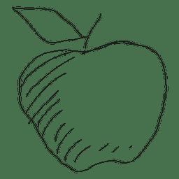 Manzana dibujada a mano