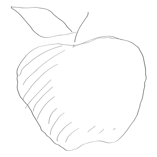 Hand drawn apple Transparent PNG