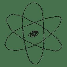 Mão, desenhado, átomo, ícone