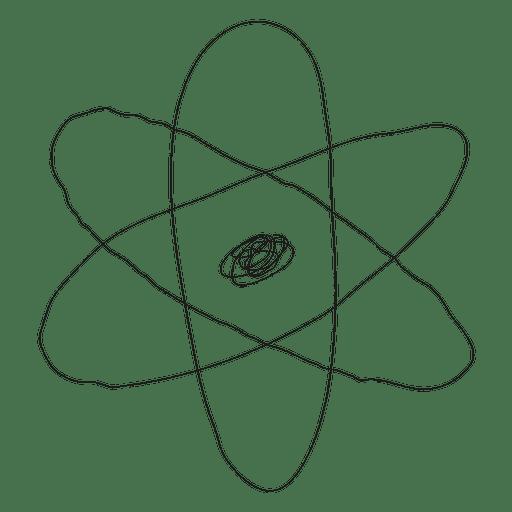 Mão, desenhado, átomo, ícone Transparent PNG