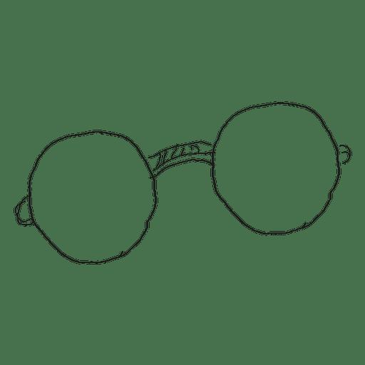 Hand drawn eyeglass Transparent PNG