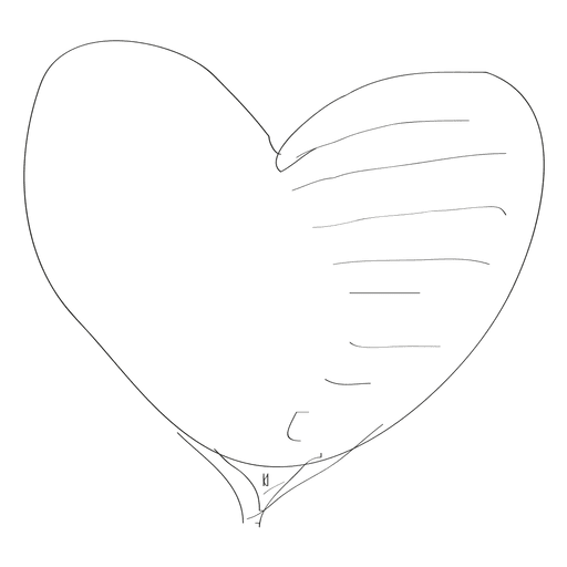 Hand drawn heart Transparent PNG