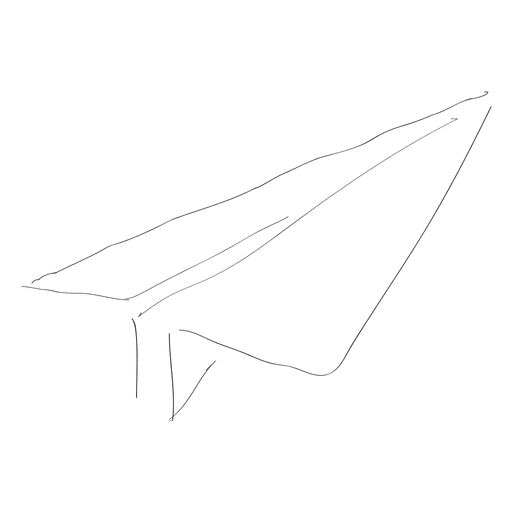 Hand drawn paper palne Transparent PNG