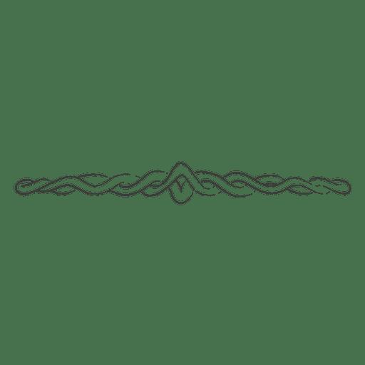 Hand drawn spiral swirling divider Transparent PNG