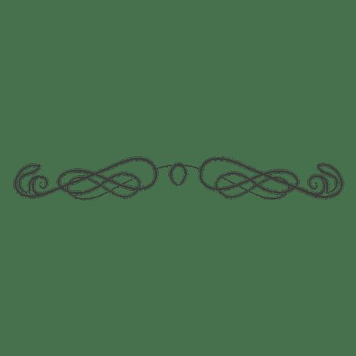 Hand gezeichneter wirbelnder Teiler Transparent PNG