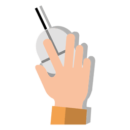 Mão em desenhos animados do rato